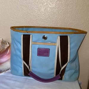 Coach Light Blue Tote Small (style 6261 )